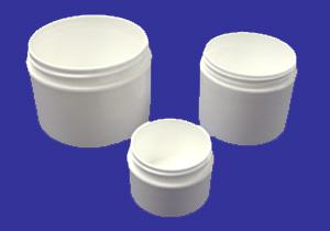Plastic Jars Straight Side